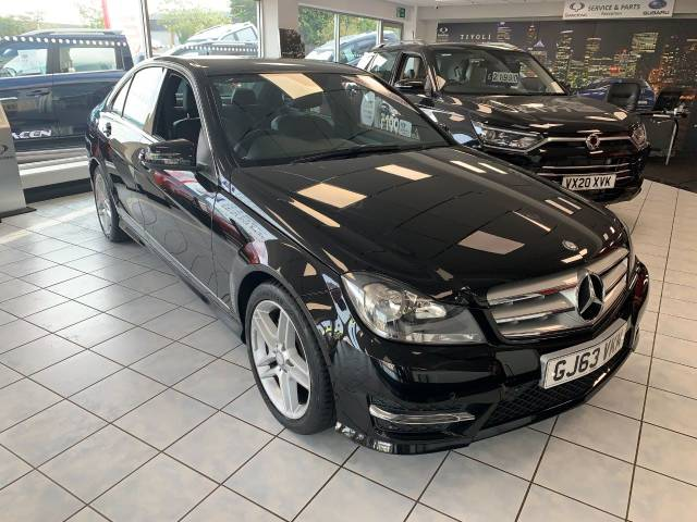 Mercedes-Benz C Class 2.1 C250 CDI BlueEFFICIENCY AMG Sport 4dr Auto Saloon Diesel BLACK