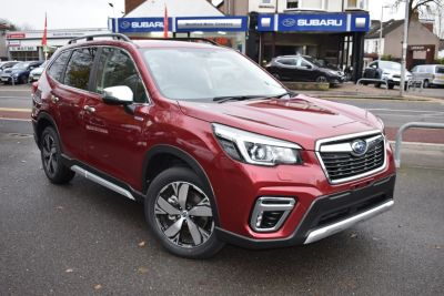 Subaru Forester 2.0i e-Boxer XE Premium 5dr Lineartronic SUV Petrol / Electric Hybrid Red at Subaru Used Vehicle Locator Coleshill